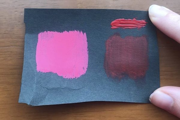 100均のアクリル絵具と水彩絵の具、色画用紙に発色する?