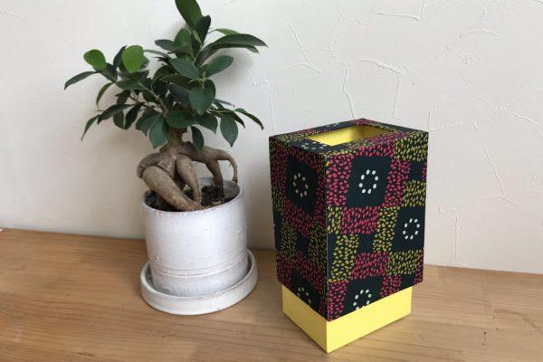 デザインペーパーで袋が隠れるすっきりゴミ箱自作しました