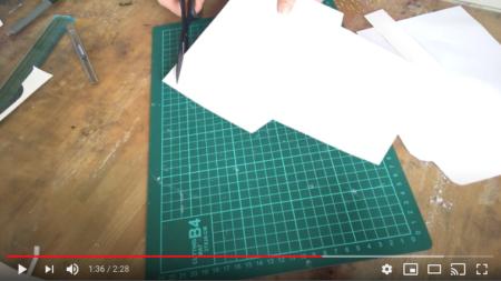 a4サイズデザインペーパーで作る封筒